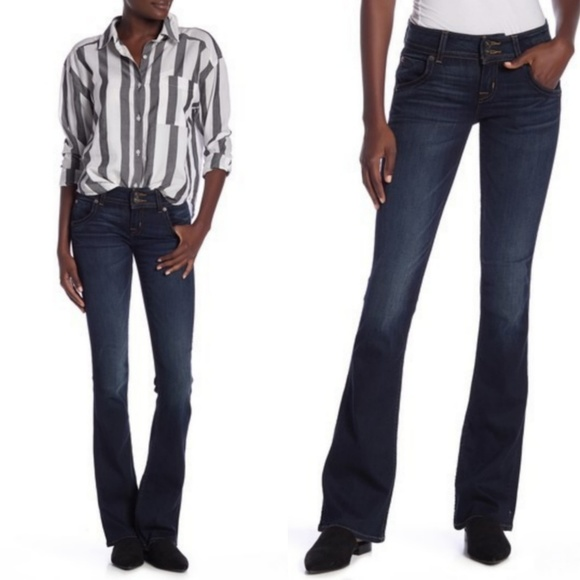 Hudson Jeans Denim - Hudson Dark Wash Signature Bootcut Jeans